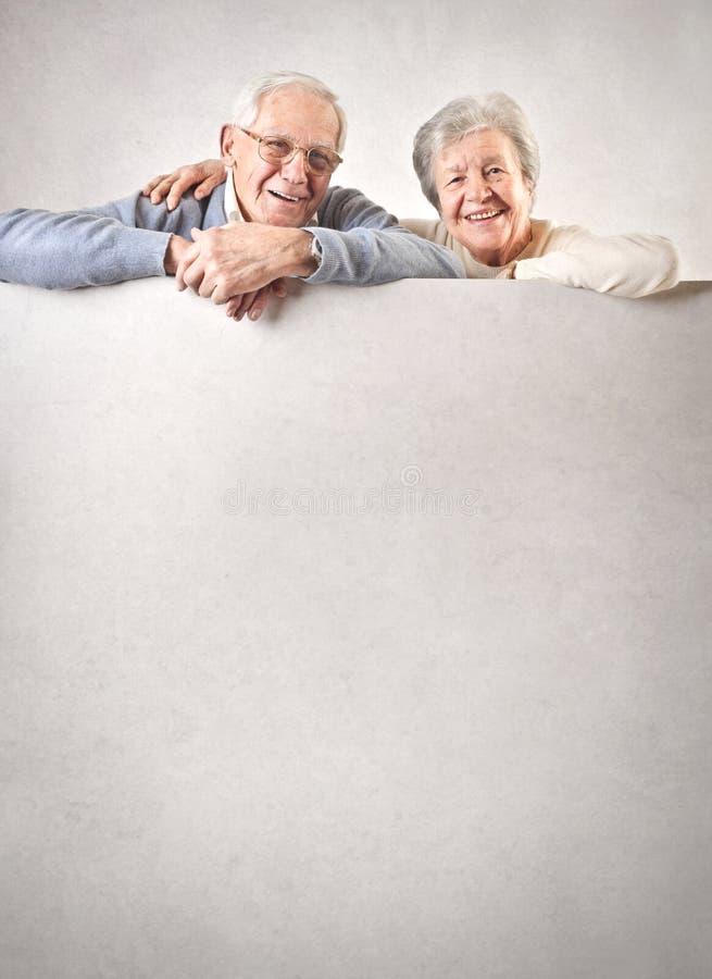 老男人和妇女 免版税图库摄影