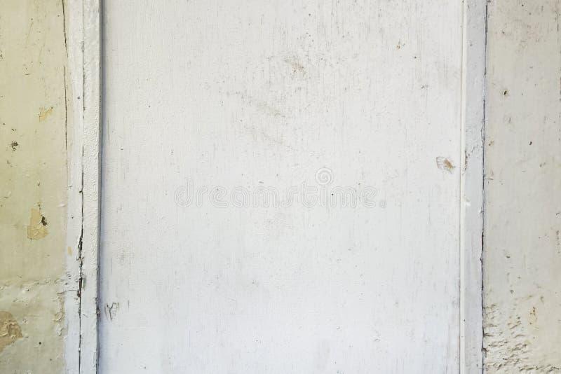 老白色木纹理有自然样式背景 库存图片