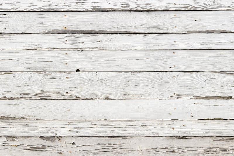 老白色木纹理有自然样式背景 免版税库存图片