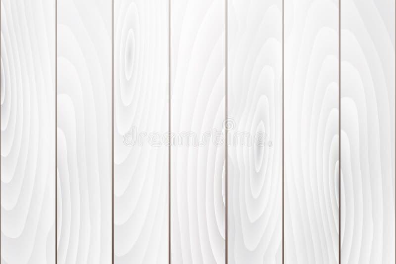 老白色木纹理背景,传染媒介 向量例证