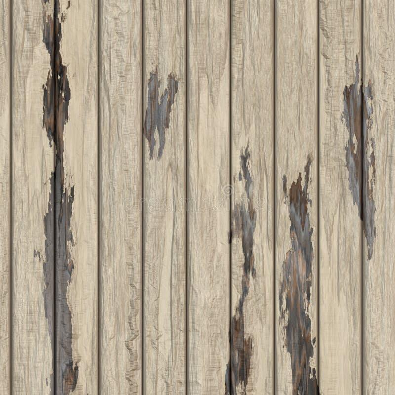 老白色木纹理背景 向量例证