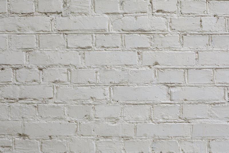 老白色砖墙纹理特写镜头  免版税库存照片