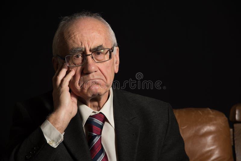 更老的生意人 免版税图库摄影
