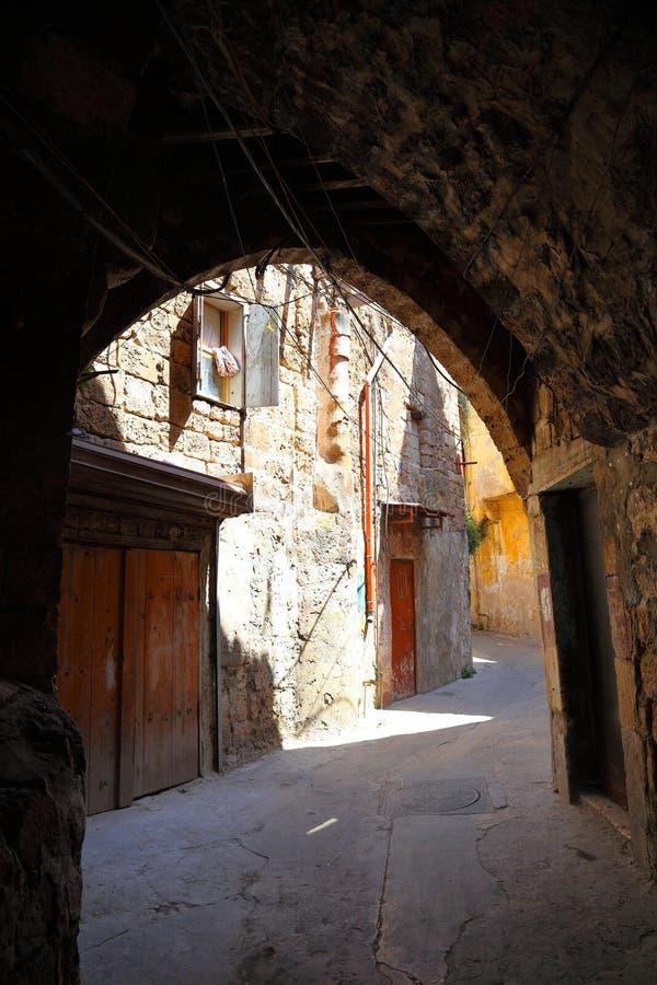 老的黎波里,黎巴嫩街道  库存图片