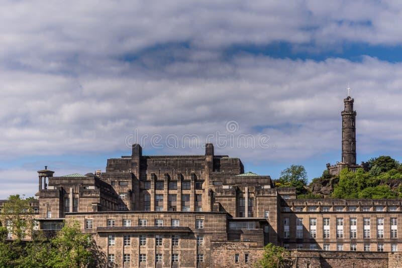 老皇家高中,爱丁堡,苏格兰,英国 库存图片