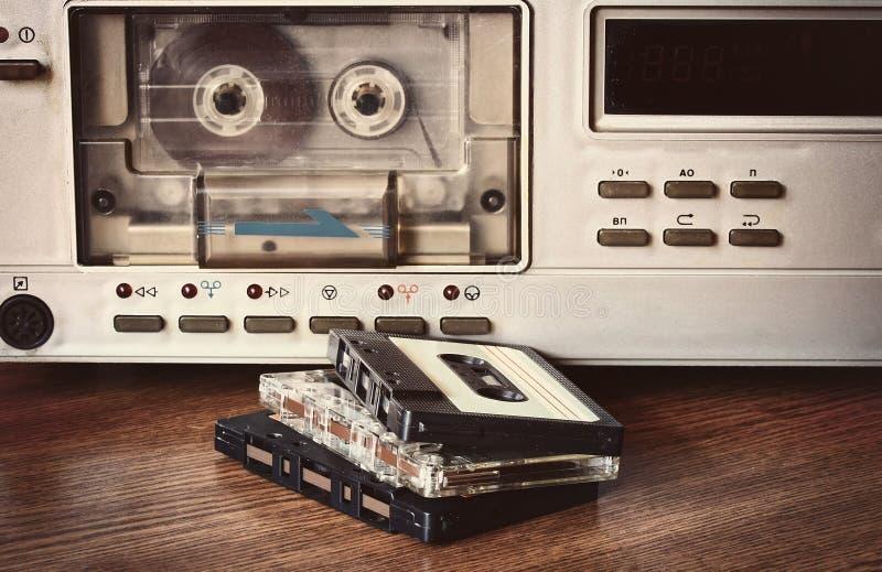 老盒式带录音机 免版税库存照片
