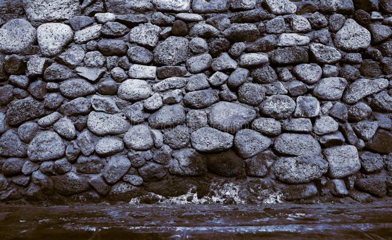 老石制品墙壁,与空间的织地不很细背景您的inse的 图库摄影