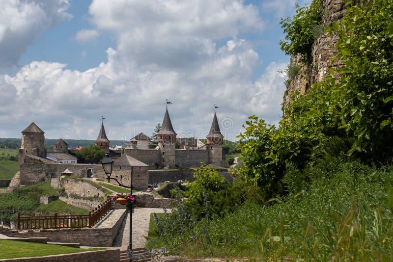 老石堡垒的看法 免版税库存照片