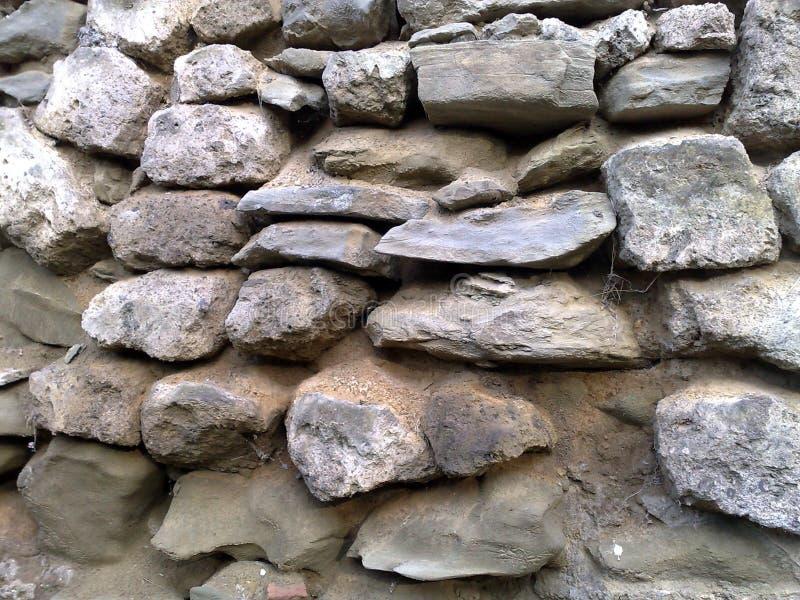 老石墙在意大利 免版税库存照片