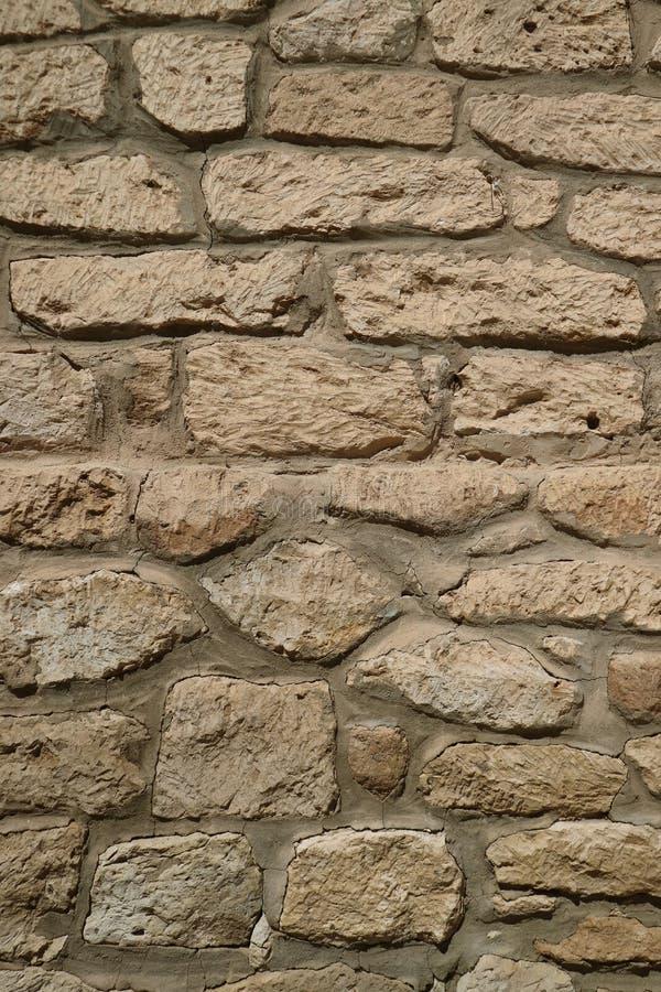 老石墙的正面图在智利北部,南美洲点心镇  库存图片