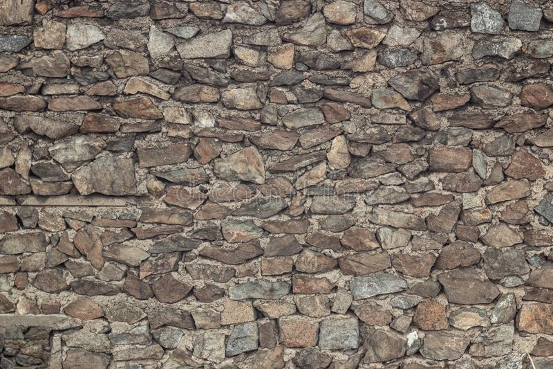 老石墙的特写镜头视图 ?? 免版税库存照片