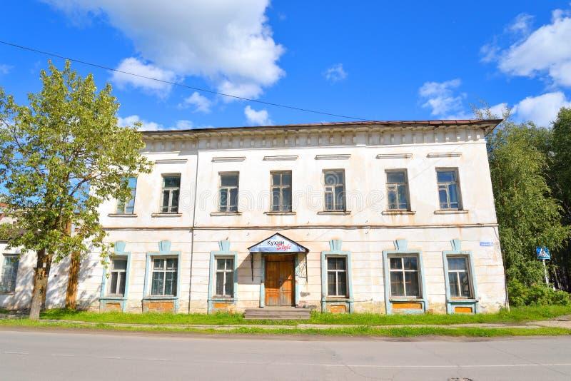 老石大厦在Kirillov镇 库存图片