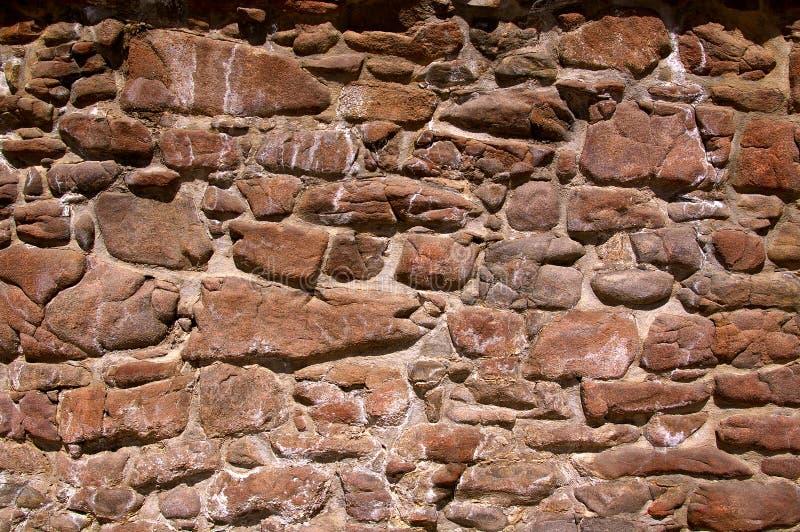 老石头和灰浆墙壁 图库摄影
