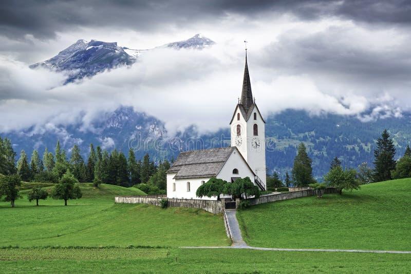 老石教会,瑞士 免版税库存照片