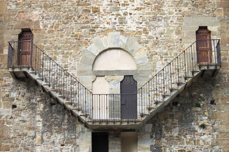 老石楼梯 免版税库存图片