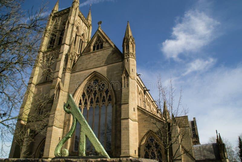 老石英国教会。 免版税库存图片