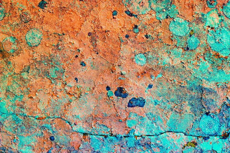 老石表面 纹理五颜六色的背景 免版税库存图片