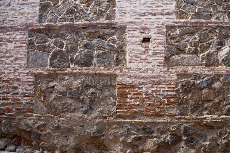 老石头和砖墙backgraund 免版税库存图片