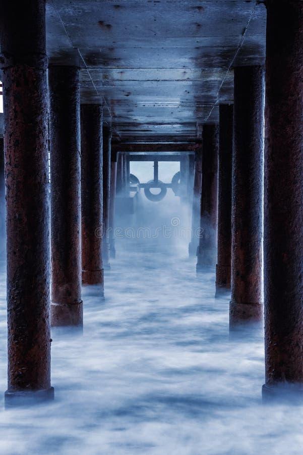 老码头在阿卢普卡 库存照片