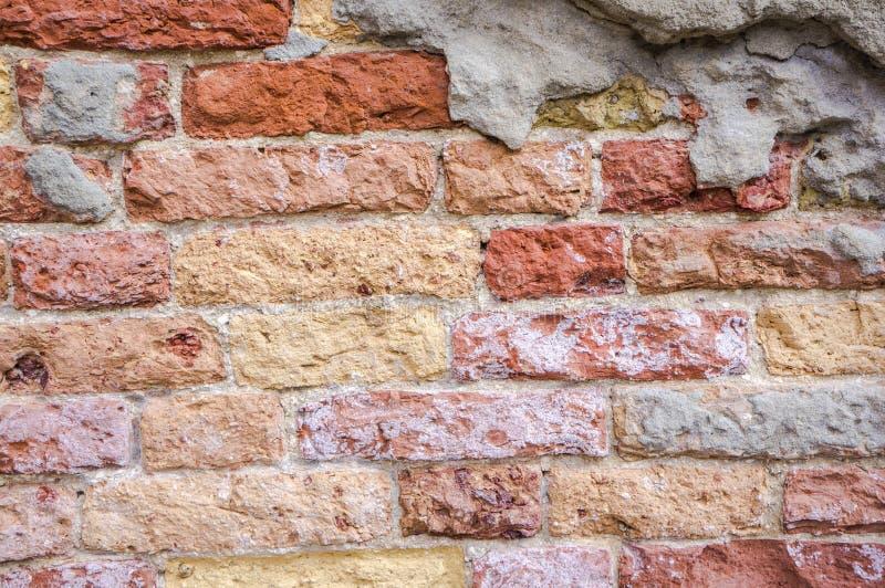 老砖墙在威尼斯 库存照片