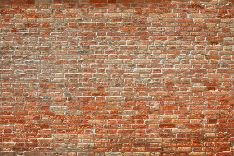 老砖墙纹理背景在一个晴天,高细节 免版税库存照片