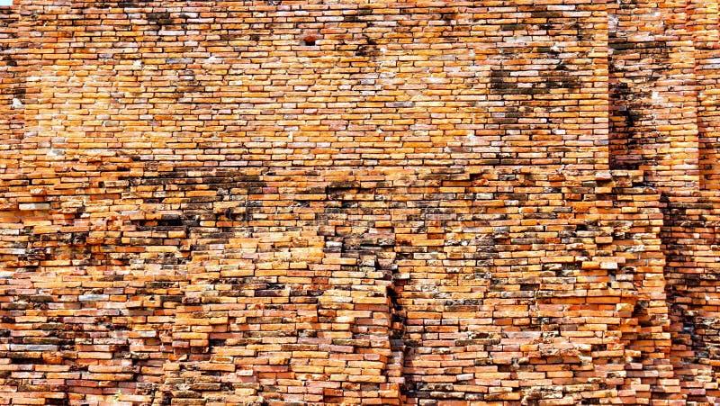 老砖墙纹理背景 免版税图库摄影