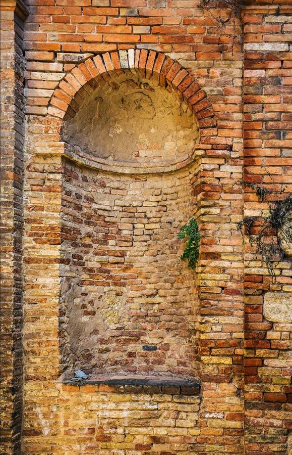 老砖墙纹理背景 免版税库存照片