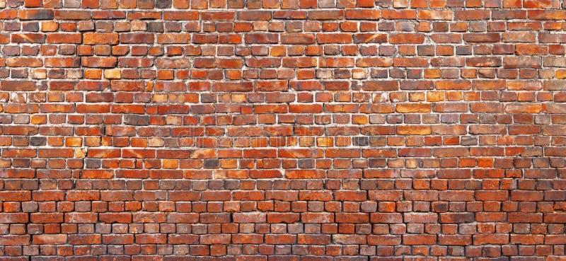 老砖墙背景,红色砖砌纹理  免版税库存图片