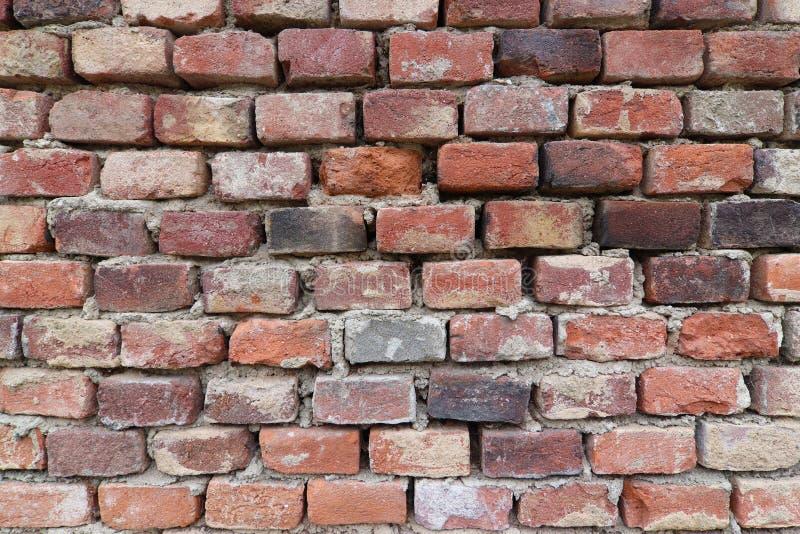 老砖墙-砖纹理 免版税图库摄影