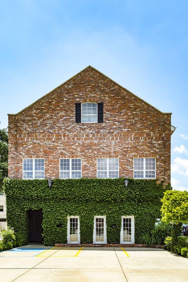 老砖房子在Eastpoint,美国看法  免版税库存照片