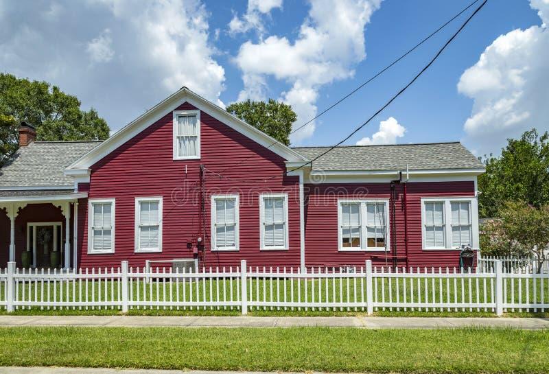 老砖房子在Eastpoint,美国看法  免版税库存图片