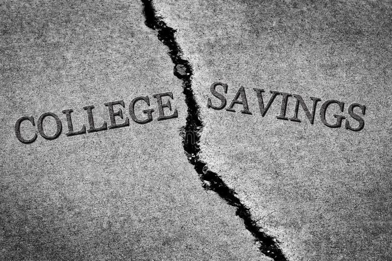 老破裂的边路水泥危险打破的学院储款Hig 免版税库存照片