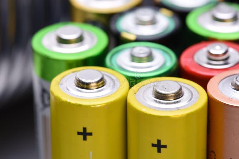 老碱性电池 免版税库存照片