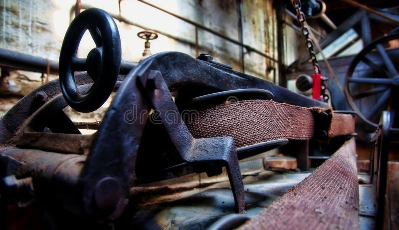 老离开的纺织品工厂在奥伊斯基兴德国 库存图片