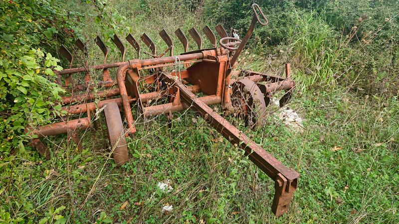 老种田的工具 库存图片