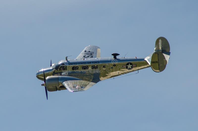 老空军队飞机 免版税图库摄影