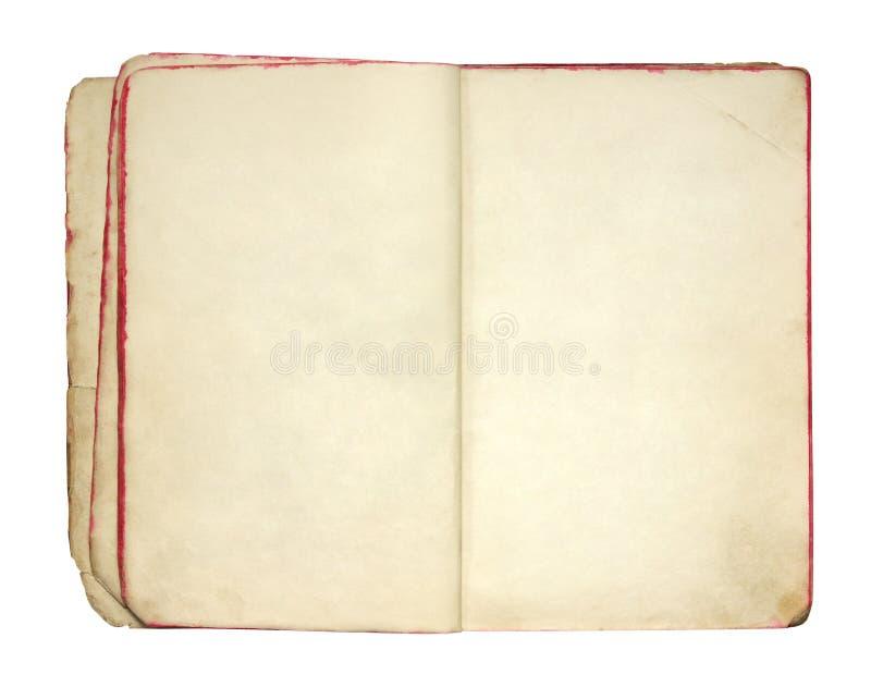 老空白书开张 免版税库存照片