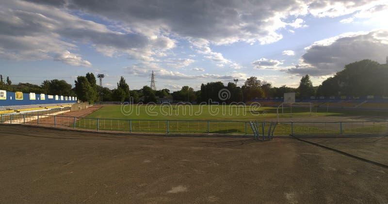 老空的体育场 免版税图库摄影