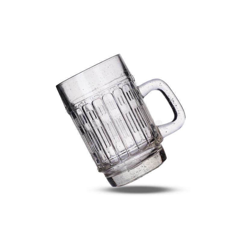 老空的啤酒杯 免版税库存照片