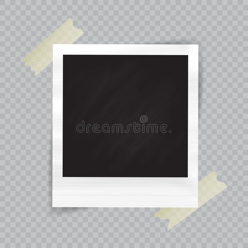 老空的现实照片框架 库存例证