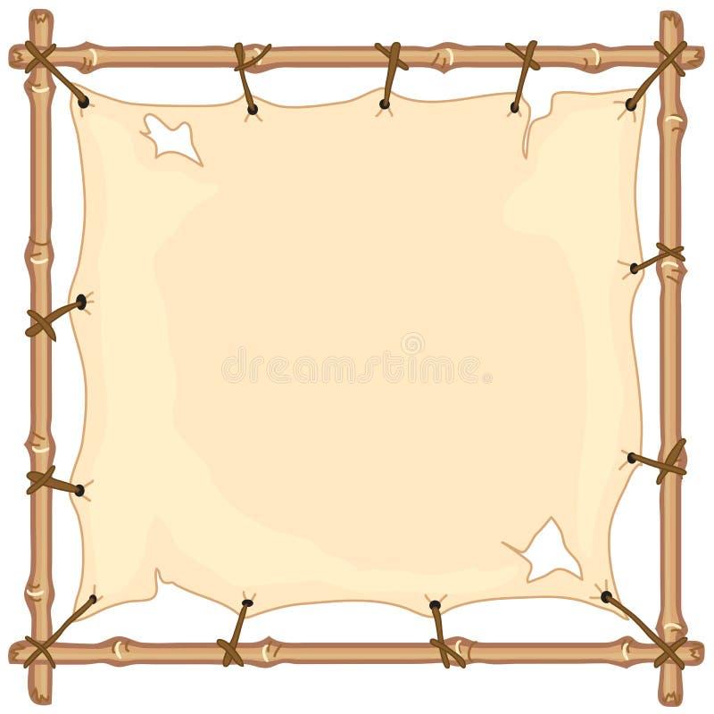 老竹横幅布料框架 库存例证