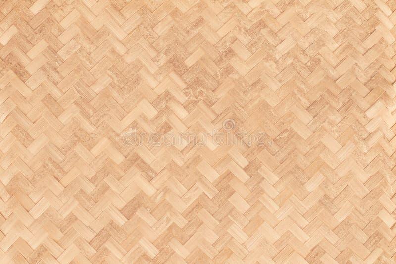 老竹编织的样式,被编织的藤条席子纹理 库存照片