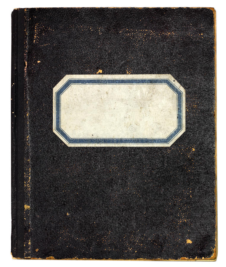 老笔记本 免版税库存照片