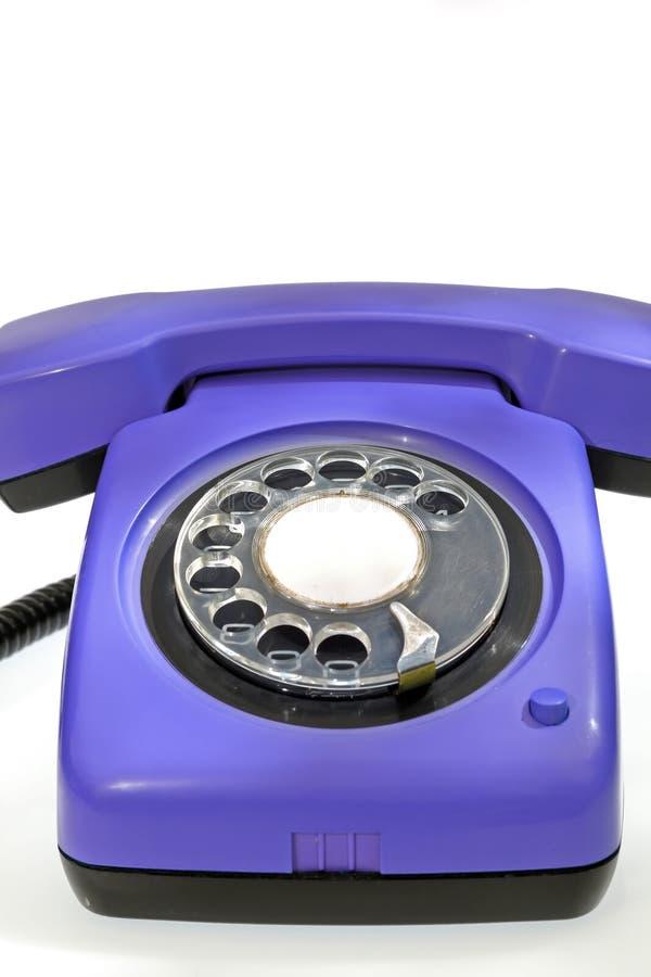 老紫色电话 免版税库存照片