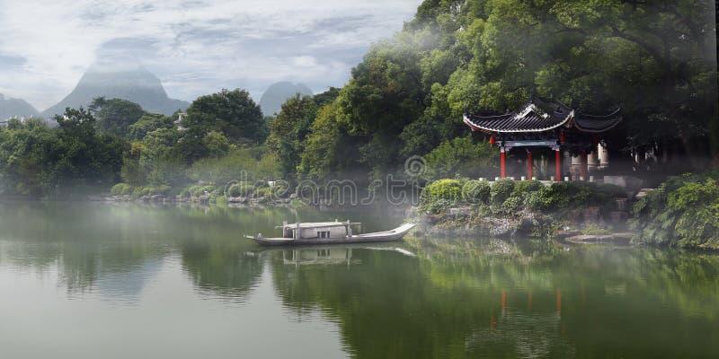 老繁体中文pavillon 库存照片