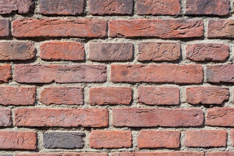 老红砖墙壁纹理特写镜头背景 库存照片