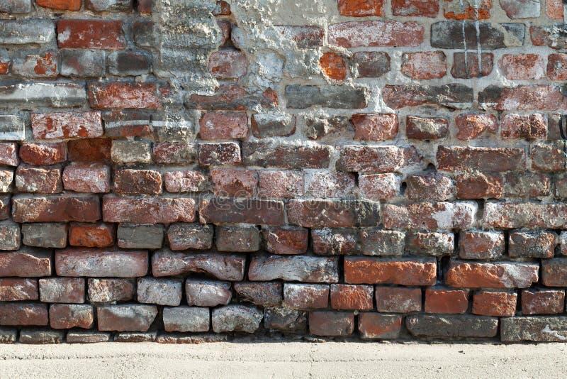 老红色和深灰砖墙纹理  图库摄影