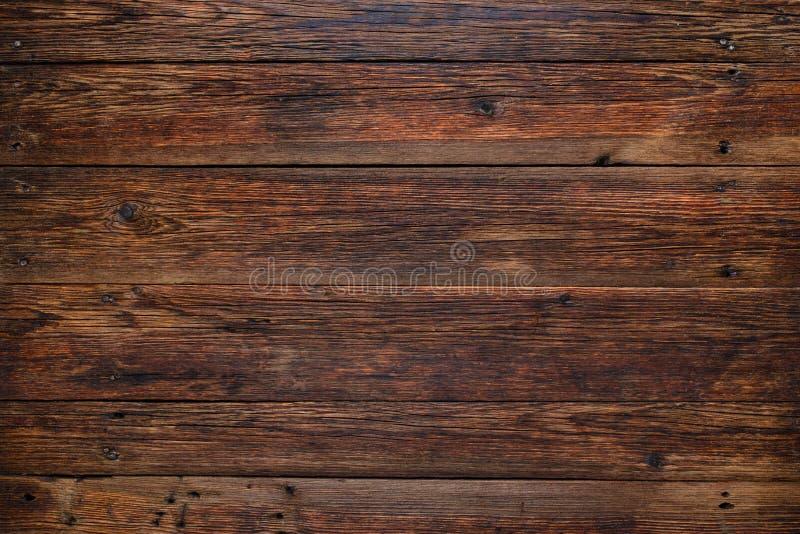老红色木背景,与拷贝空间的土气木表面 免版税库存图片