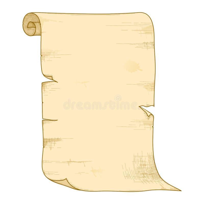 老纸卷向量 皇族释放例证