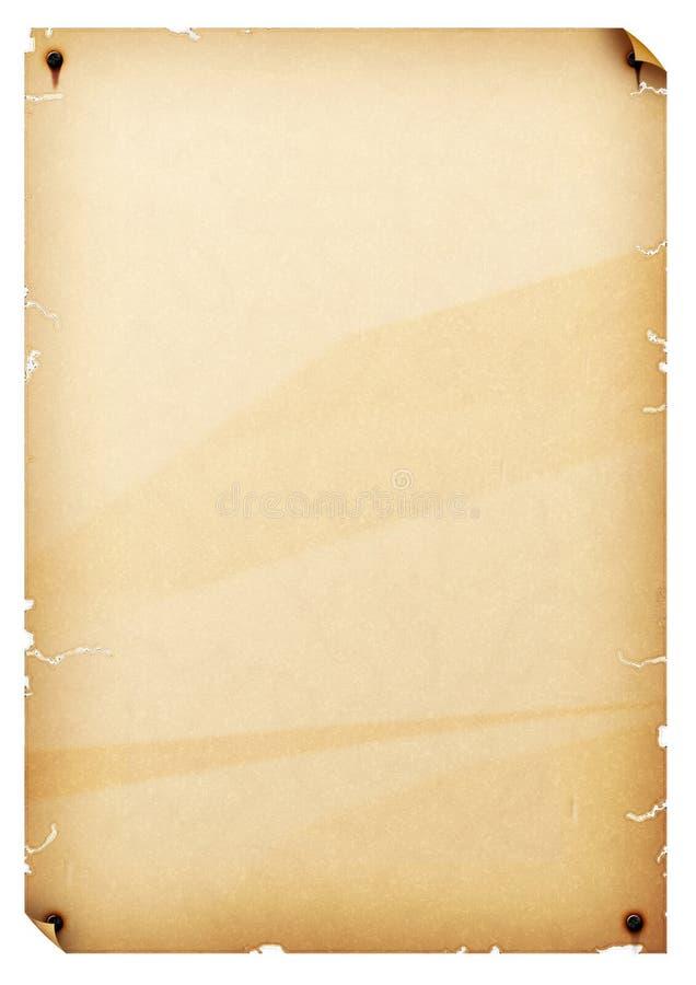 老纸张 向量例证